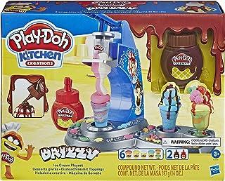 Play-Doh Tęczowa Lodziarnia z polewą i 6 kolorami nietoksycznej ciastoliny