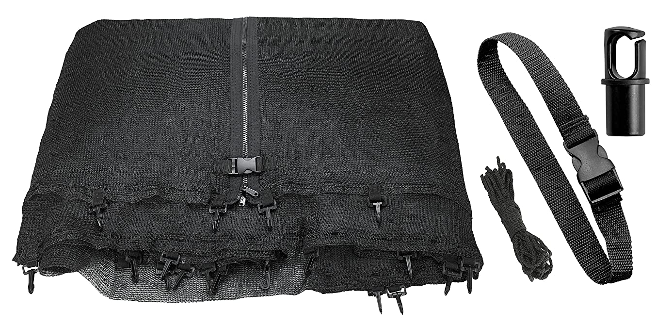 Trampoline Replacement Enclosure Net, Fits For All Sizes Round Frames (All brands),? Works with multiple amount of poles - Pole Caps Included