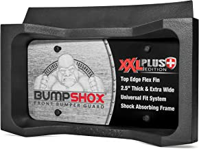 (NEW FOR 2018) BumpShox XXL - Front Car Bumper Protection, Ultimate Front Bumper Guard. Front Bumper Protection License Plate Frame. Tougher Than Steel !