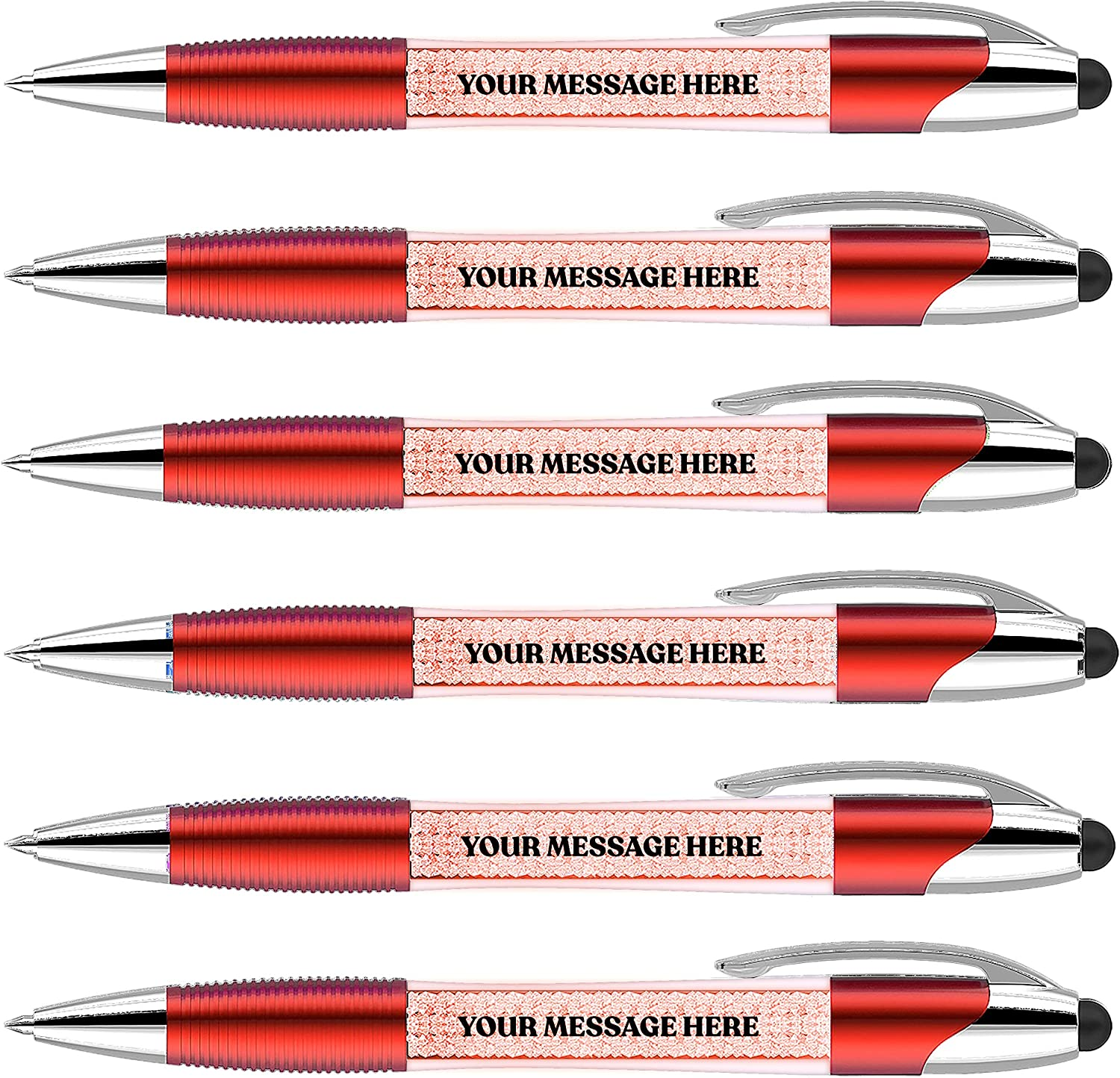 Personalized Pens+Stylus-100 Pack Bulk-Pen up A surprise price is realized Personali a Lights National uniform free shipping