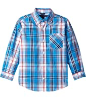 Tommy Hilfiger Kids - Ellison Plaid Long Sleeve Shirt (Toddler/Little Kids)