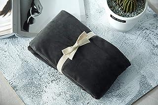 枕カバー 48*74cm 2枚入 フランネル うっとりなめらかパフ色褪せない 防ダニ 抗菌 防臭 ホテル品質 滑らか 柔らかい グレイ (枕カバー)