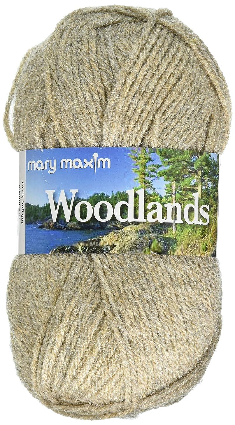 "Mary Maxim Woodlands Yarn ""Beige Heather""   4 Medium Worsted Weight Yarn for Knit & Crochet Projects   90% Acrylic and 10% Alpaca  4 Ply - 200 Yards"