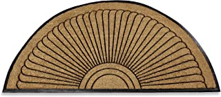Kempf Half Round Inlaid Sun Ray Doormat, Outdoor, Entrance Mat, Extra Large Size, Double Door Entrances, Heavy Duty, 3 x ...