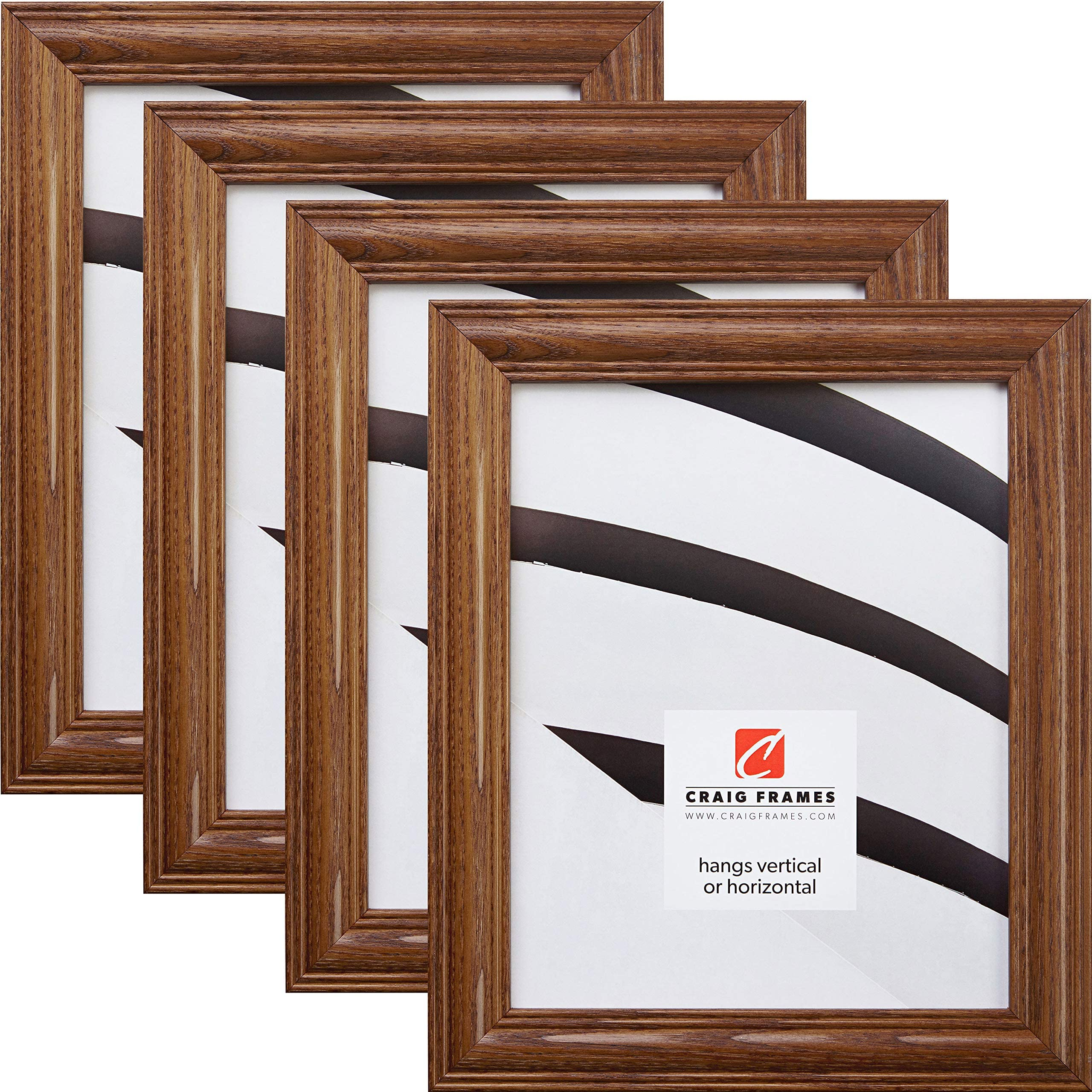 2-Inch Contemporary Upscale Craig Frames 11x14 Inch Distressed Walnut Brown Picture Frame 760041114