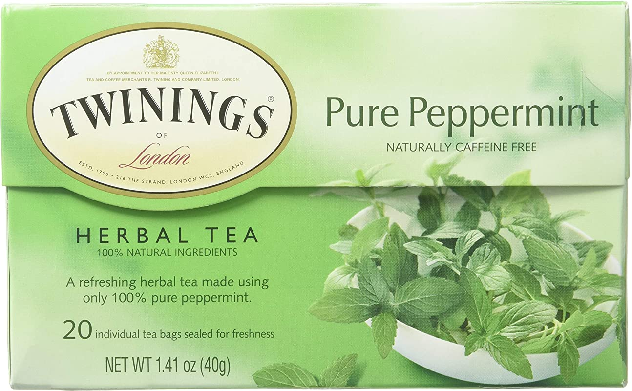 Twinings Of London Pure Peppermint Herbal Tea Bags 20 Count