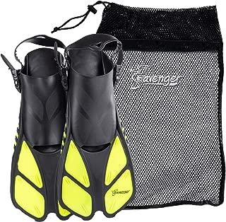 Seavenger Torpedo Snorkeling Fins for Travel (Yellow,  S/M)