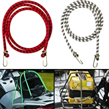 Autofy Multipurpose Ultra Flexible Bungee Rope/Luggage Strap/Bungee Cord with 15 MM Diameter and Metal Hooks (Multicolored...