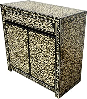 Marrakesch - Cómoda oriental estilo oriental pintado a mano madera maciza muebles asiáticos de la India