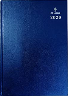 Collins Desk - 2020 Diary - A4 Day a Page - Blue