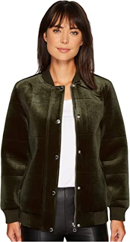 Members Only - Velvet Bomber Jacket