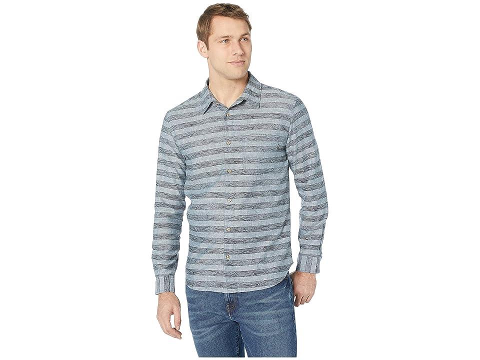 tentree Mancos Long Sleeve Button Up (Heathered Dark Denim) Men