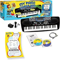 eMedia My Piano Starter Pack for Kids with Poster , 49-Key (Black)