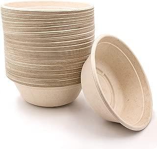 40 oz Disposable Eco Bowls Large 50 Pack Beige