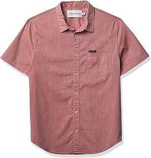 Calvin Klein Men's Short Sleeve Oxford Button Down Shirt