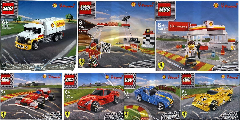 2014 The New Shell V-power Lego Collection Ferrari F138, F12 Berlinetta, 250 GTO, 512 S, Finish Line, Podium, Shell Station & Lego Minifigure, Tanker Set Sealed B00OXHMVZ8 Hohe Qualität und geringer Aufwand    Online-verkauf