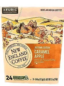 New England Coffee Caramel Apple K-Cups 24 ct