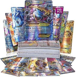 CITY OF AUSTIN 100 Assorted Poke Cards TCG Style Card Holo EX Full Art : 20 GX + 20 Mega + 1 Energy + 59 EX Arts Includes ...