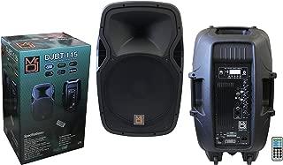 Mr. Dj DJBT115 15-Inch 3000 Watts Max Power Speaker with Built-in Bluetooth/FM Radio/ MP3/USB/SD Card Slot