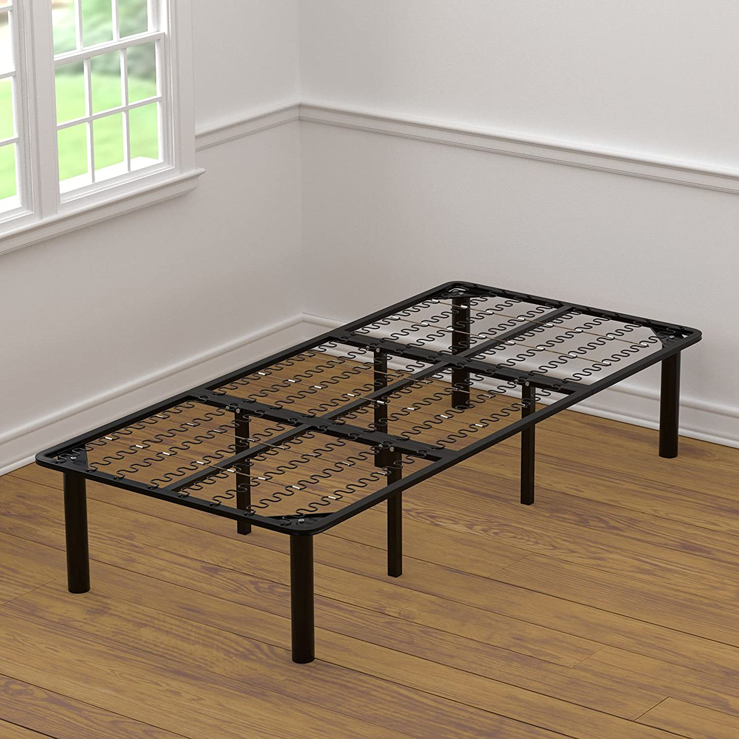 Handy Living 32F-XL-Twin Extra Long Twin Size Bed Frame and Box Spring