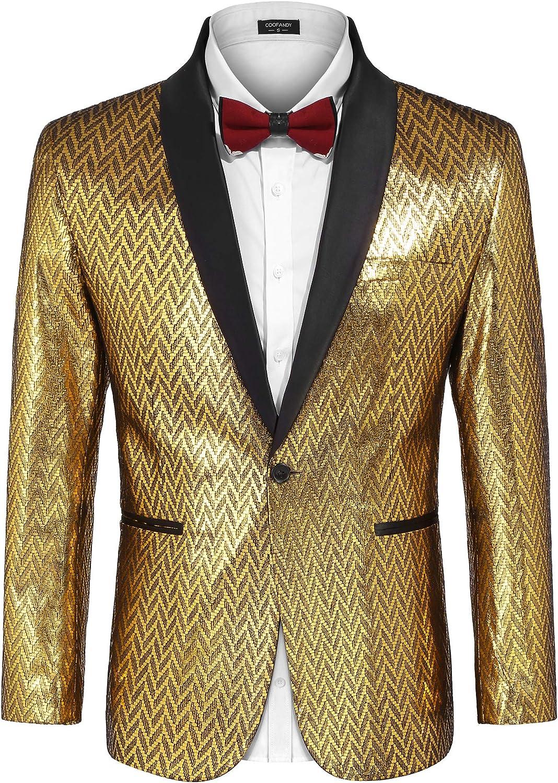 日本産 COOFANDY Men's Fashion Suit Jacket Blazer Wedd Button セール特価品 One Luxury