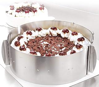 Cercle à tarte – Des créations de tartes magiques pour toutes les occasions – Cercle pâtisserie en inox réglable et fixabl...