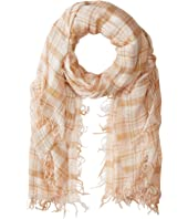 70% Cashmere 30% Silk Plaid Print Scarf