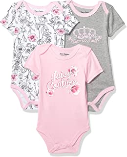 Baby Girls' 3 Pieces Pack Bodysuits