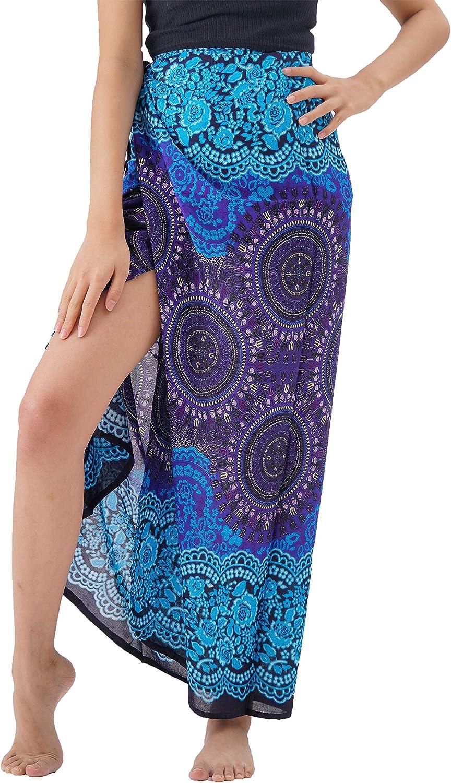 B BANGKOK PANTS Women's Maxi Wrap Skirt Tie Up Beach Cover Up
