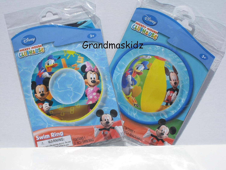 n ° 1 en línea Mickey Mouse Clubhouse Swim Ring Ring Ring & Beach Ball Set  precios ultra bajos