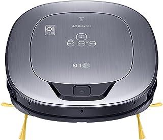 LG VR65710LVMP Hombot Turbo Serie 10 - robot aspirador programable con doble cámara, para casas con mascotas, niños y alfombras, color rojo