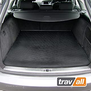 Travall Liner Compatible with Audi A6 Avant (2004-2011) Also for Audi A6 Allroad Quattro (2006-2012), Audi S6 Avant (2006-2011) TBM1003 - All-Weather Black Rubber Trunk Mat Liner