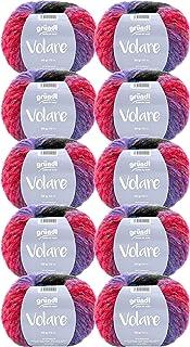 Gründl Volare Lot de 10 pelotes de 500 g de laine moelleuse avec dégradé de couleur, pour tricot ou crochet Couleur 04