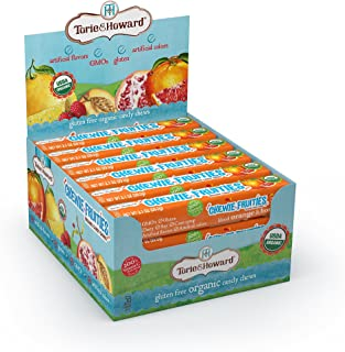 Torie and Howard Chewie Fruities Stick Pack, Blood Orange and Honey, 2.1 Ounce (Pack of 18)