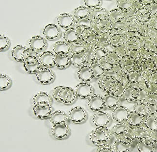 300 Jump Rings, Silver-plated Brass, 6mm Twisted Round, 16 Gauge open Jewelry Connectors Chain Links Sold Per Pkg of 300