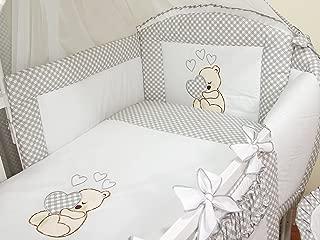 Ropa de cama para cuna de bebé, 100% algodón, conjunto