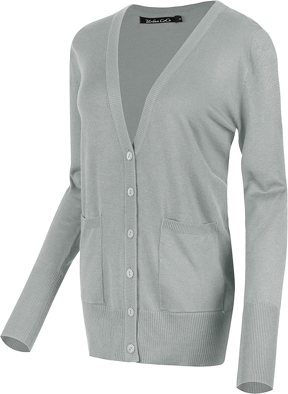 Urban CoCo At the price Women's Manufacturer regenerated product Button Down Sweater Knit Lightweight Cardigan