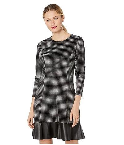 MICHAEL Michael Kors Micro Combo Tier Dress (Black/White) Women