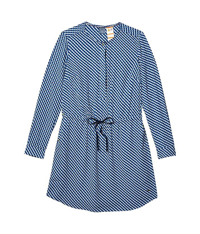 Tommy Hilfiger Adaptive  Prague Shirtdress (Olympian Blue/Multi) Womens Clothing