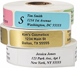 Return Address Labels - Roll of 500 Personalized Labels (White)
