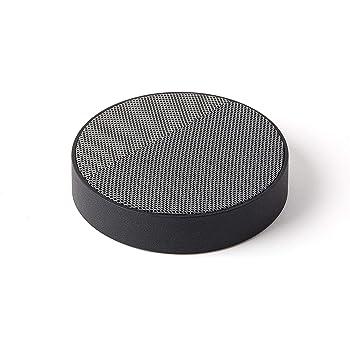 Lexon Oslo Energy - Wireless Charging Station and 5W Bluetooth Speaker - Black/Grey
