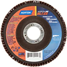 Norton Blaze R980P Abrasive Flap Disc, Type 27, Round Hole, Fiberglass Backing, Ceramic Aluminum Oxide, 7