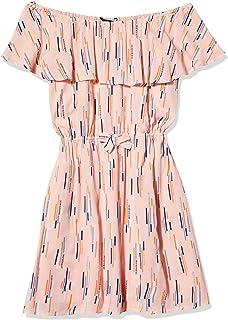 Calvin Klein girls Girls' Ruffle Dress Casual Dress