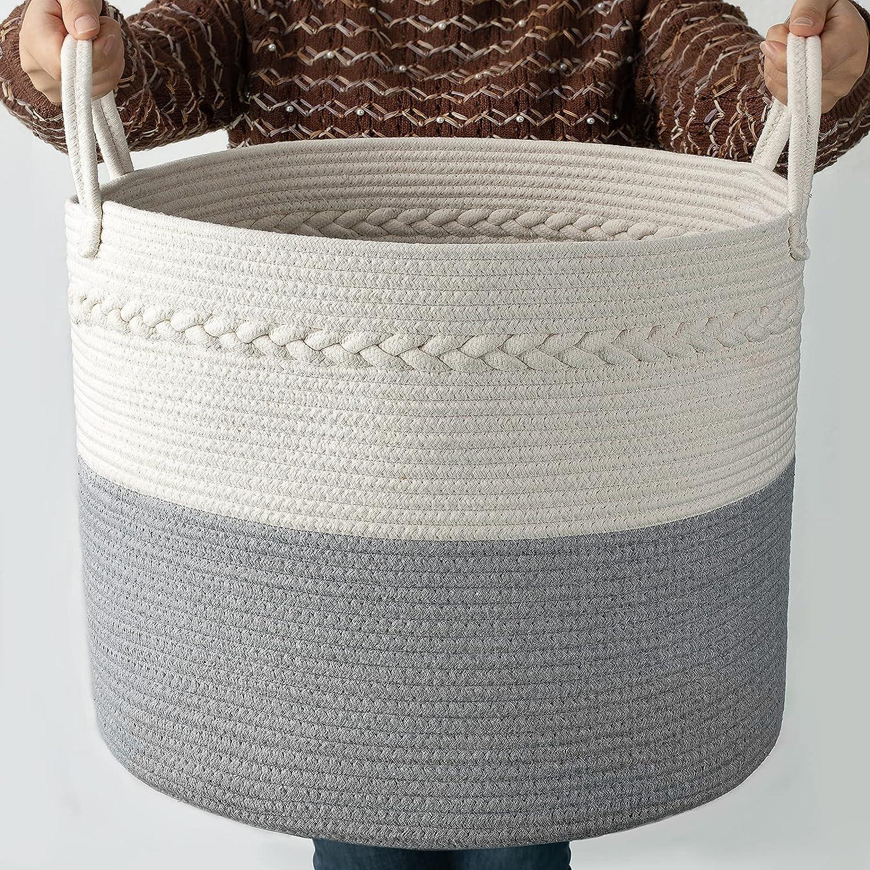 COSYLAND Extra Large Woven Storage Basket 17