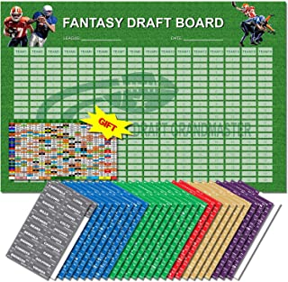 "Fantasy Football Draft Board 2019 Kit | 72"" x 48"" 