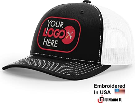 da0f474efb255 Custom Richardson 112 Hat with Your Logo Embroidered Trucker Mesh Snapback  Cap