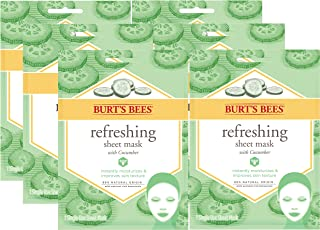 Burt's Bees Refreshing Sheet Face Mask with Cucumber, 1 Sheet Mask (Pack of 6)