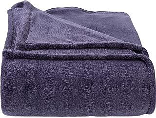 Berkshire Blanket Plush Serasoft Polartec Warmth Technology Bed Blanket, King, Graphite