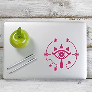 Yoonek Graphics Zelda Breath of The Wild Sheikah Decal Sticker for Car Window, Laptop and More. # 1147 (6