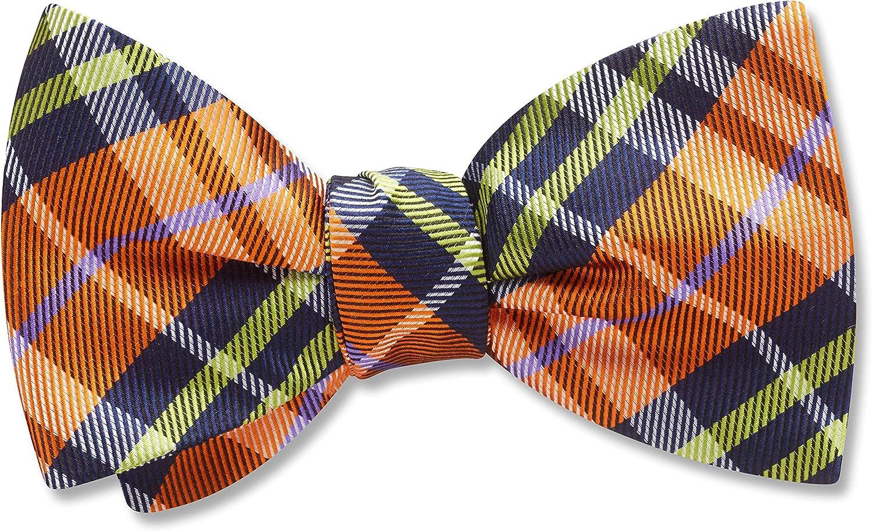 Lindores Orange Plaid, Men's Bow Tie, Handmade in the USA